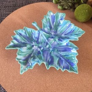Mid Century Accents - Mid Century Dryden Pottery Leaf Dish